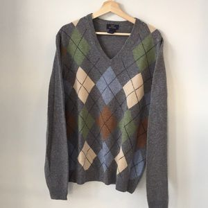 Brooks Brothers V-neck Argyle Sweater